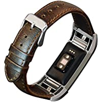 Xindda Leather Buckle Wrist Watch Band Strap Belt for Fitbit charge2 Watch