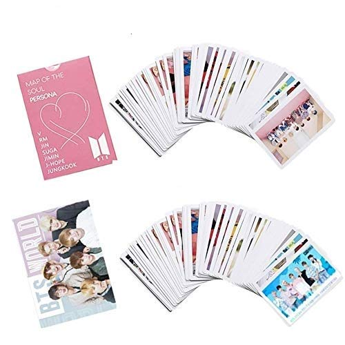 2Pack/108PCS BTS Lomo Cards BTS PhotoCards Map Of The Soul: BTS PERSONA Postcards (Pink)