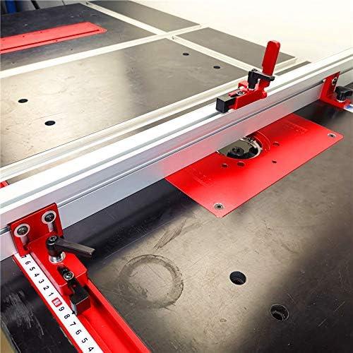 Laecabv Type 75 T-Tracks est/ándar T-Slot Mitre Tope de la pista Chute Tope Manual Madera Herramientas de bricolaje