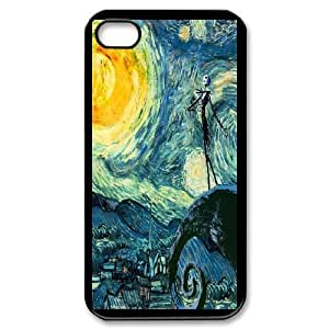 iPhone 4,4S Phone Case Black The Nightmare Before Christmas F6535681