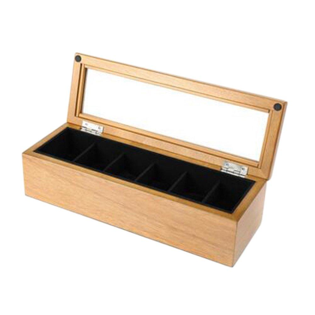 高級木製時計6スロットボックスWatchesストレージボックスJewels Display Case # 24 B073GZF9PQ