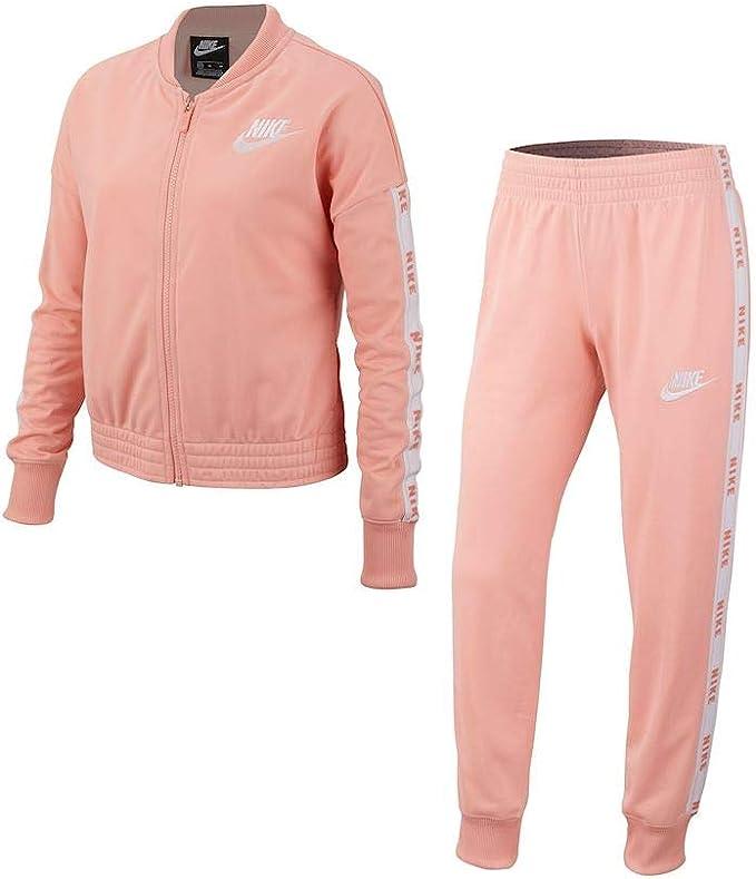 Nike Sportswear Chándal, Niñas, Bleached Coral/White/White, XS ...