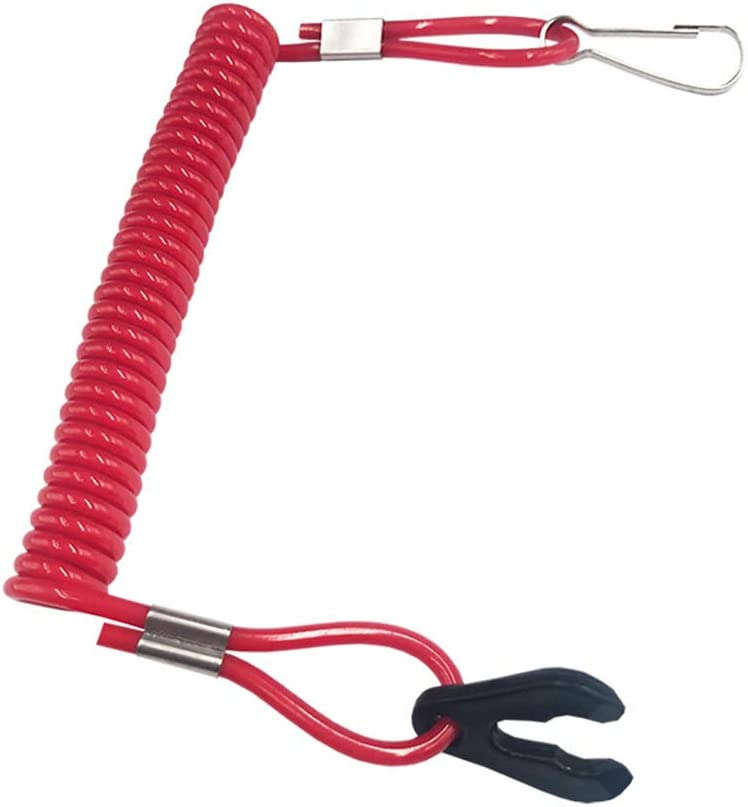 UTUT Kill Switch Safety Tether Universal Boat Outboard Engine Cord Kill Stop Switch Safety Lanyard Tether Rope