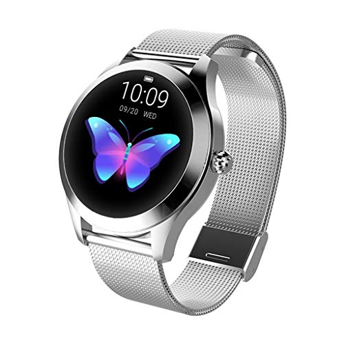 Best Gift !! Luxury Women KW10 Smart Watch IP68 Waterproof Heart Rate Monitoring Bracelet Fitness Tracker Pedometer Compatible for Android for Samsung for iOS - Under 50 Dollars