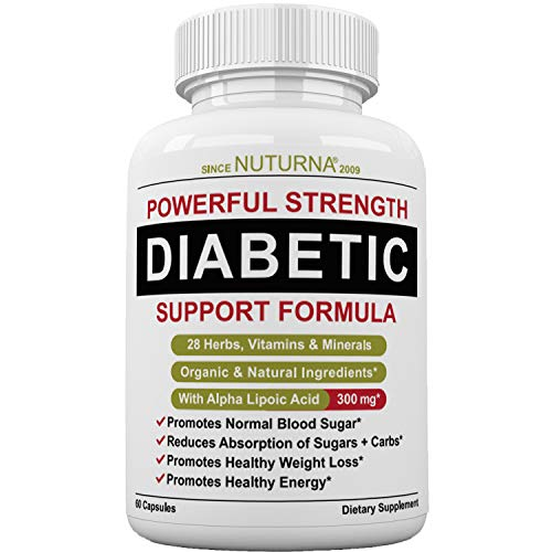 Diabetic Support Formula - 28 VITAMINS Minerals & Herb Supplement For Blood Sugar Support - Healthy Body Weight & Extra Energy Support Naturally - Premium Diabetic Multivitamin For Men & Women 60 Pack