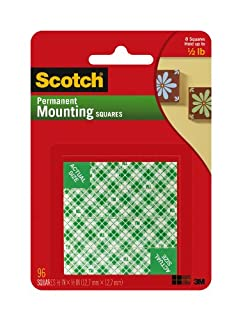 Scotch Indoor Mounting Squares, 1/2-inch x 1/2-inch, White, 96-Squares (111-SML) (B00347A876) | Amazon price tracker / tracking, Amazon price history charts, Amazon price watches, Amazon price drop alerts