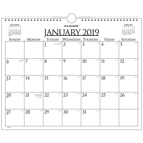 at-A-Glance Monthly Wall Calendar, January 2019 - December 2019, 15