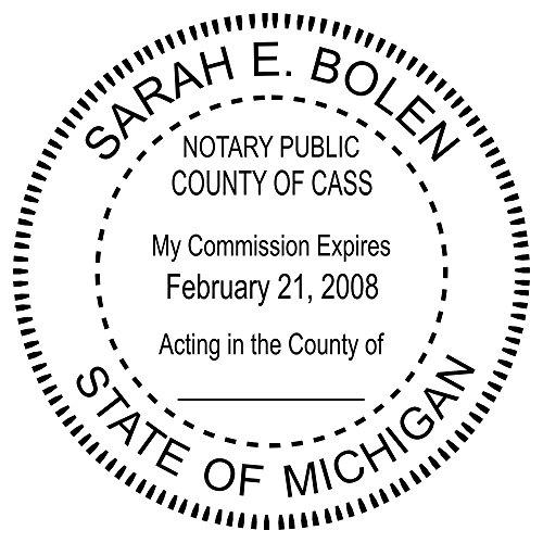 (Michigan Notary Round Seal Stamp)
