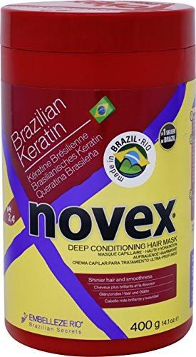 (Embelleze Novex Brazilian Keratin Hair Care Treatment Cream - 14.1 Oz | Embelleze Novex Creme de Tratamento Capilar com Queratina Brasileira - 400g)