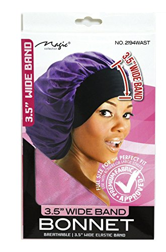 Magic Collection 3.5 Inch Wide Band Bonnet Elastic Band Pink Pink Bonnet