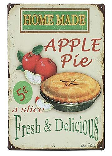 - UNIQUELOVER Home Made Apple Pie Fresh & Delicious,Retro Vintage Metal Tin Signs Pub Bar Decor 12 X 8