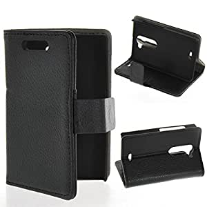 GETLAST Black High Quality Leather Wallet With Card Slots Stand Case Cover For Nokia Asha 502