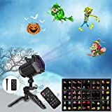 UNIFUN Christmas Lights,15 Patterns Projector Lights Waterproof Dynamic Landscape Lights for Celebration Halloween…
