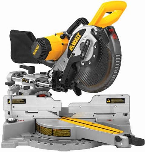 DEWALT 10-Inch Sliding Compound Miter Saw, Double Bevel DW717