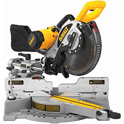 dewalt dw717 10 in double bevel sliding compound miter saw power