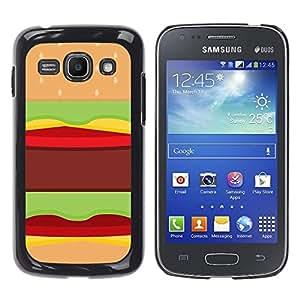 YOYOYO Smartphone Protección Defender Duro Negro Funda Imagen Diseño Carcasa Tapa Case Skin Cover Para Samsung Galaxy Ace 3 GT-S7270 GT-S7275 GT-S7272 - hamburguesa rápida comida pop arte basura marrón