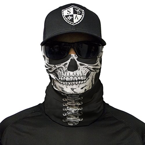 S A 1 Face Shield Skeleton Face Shield, Face Shield for Men and Face Shield for Women – UV Face Shield by S A (Image #7)