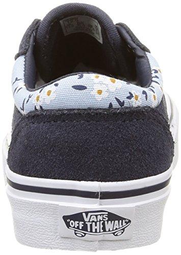M盲dchen 30 Vans blue Sneakers flower Vans Milton Blau Milton EU 8xwtqS