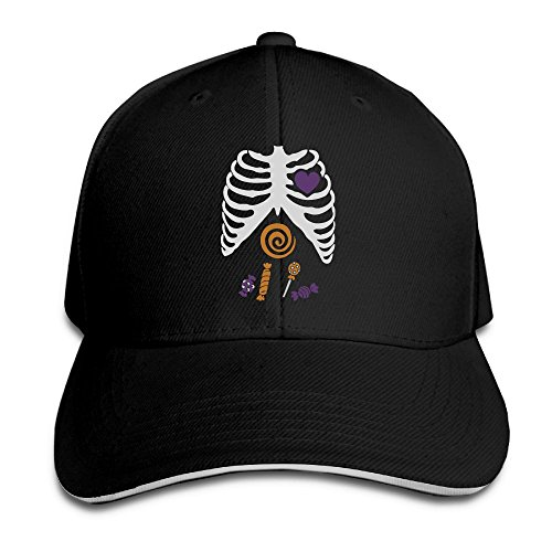 Halloween Candy Bone.PNG Unisex All-Match Partner Sandwich Cap | Peaked Cap (Halloween Candy Png)