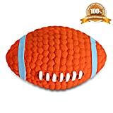 Airsspu Dog Squeak Chew Ball Toys - Interactive and Chewing Durable Latex Balls Toys - Durable Dog Squeaky Rugby Chew Textured Toy for Small Medium Large Dogs