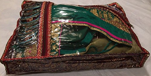 5 Pack/SARI-SAREE/LEHENGA COVER-BAGS-PACKAGING-STORAGE ONE SIDE CLOTH CLEAR - Choli Sari