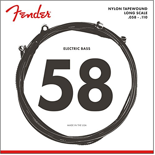 Fender Nylon Bass Guitar Strings, Light