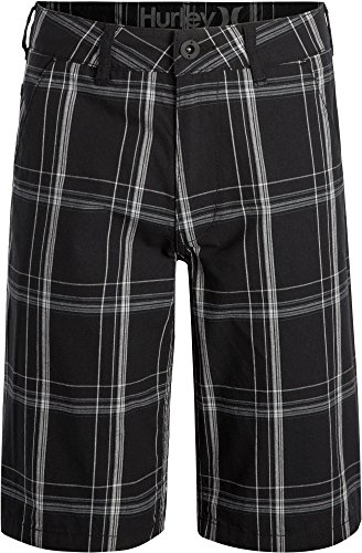 Big Boys Hurley Puerto Rico Walk Shorts (12 Big Kids, Black)