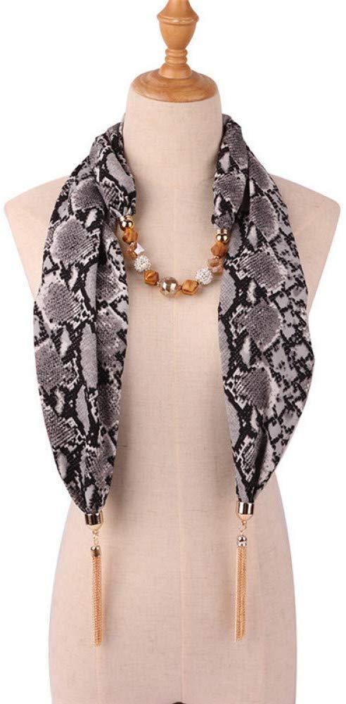 Stilvolle Einfachheit Mode Schlange Leopardenmuster Anh/änger Halskette Schal Frauen Muslimischen Kopf Schal Weiblichen Bekleidungszubeh/ör 3 W-J