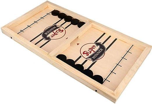 Case&Cover Montessori los niños Juguetes rápido Sling Puck Juego Slingpuck Juego de Doble Cara del Juego Le Juegos de Mesa Jogo para Adultos de Madera de Juguete: Amazon.es: Hogar