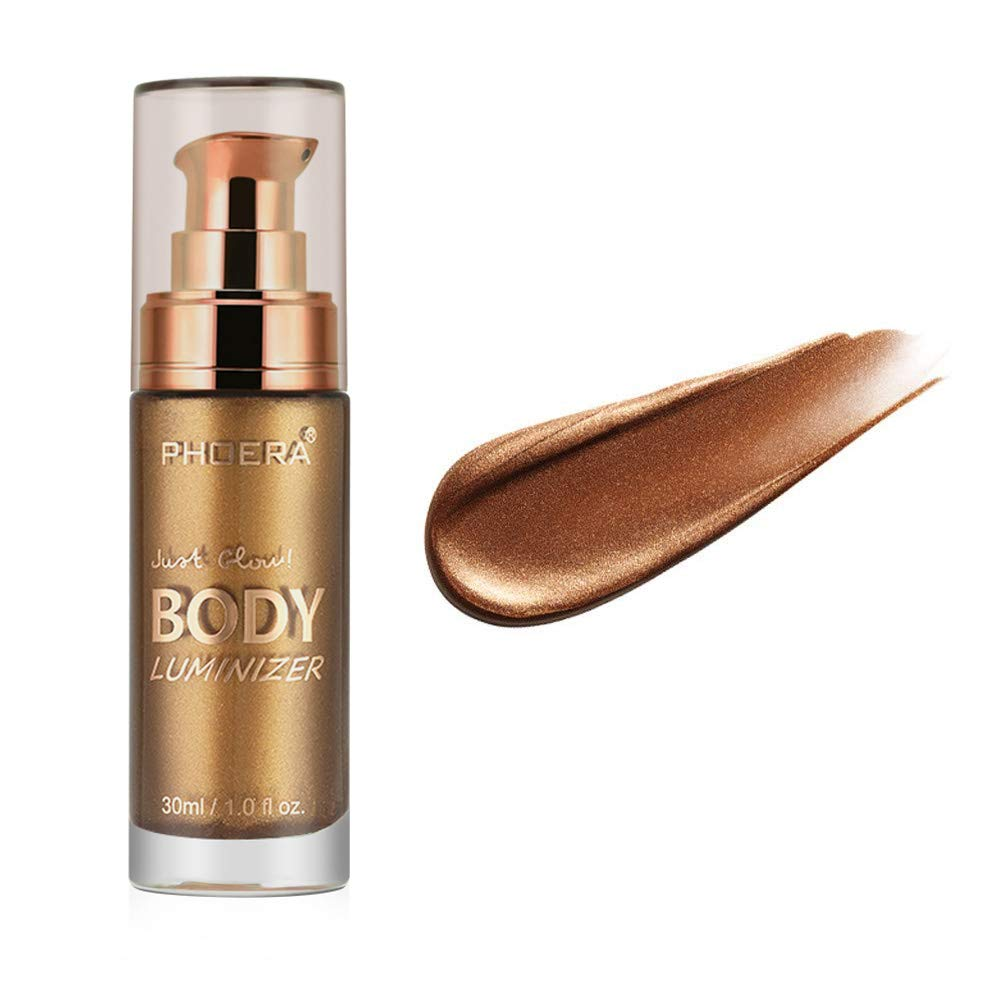 Ownest 3 Colors Body Luminizer, Waterproof Moisturizing and Glow For Face & Body, Radiance All In One Makeup, Face Body Glow Illuminator, Body Highlighter 1fl.oz.- 103 Glistening Bronze
