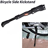 EverTrust(TM)Adjustable Bike Bicycle Aluminum Side Kickstand Kick Stand Kit for Road Mountain Bicycle Cycling Black