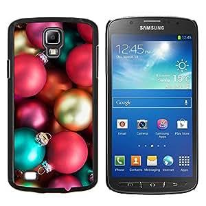 TECHCASE---Cubierta de la caja de protección para la piel dura ** Samsung Galaxy S4 Active i9295 ** --Bolas Insignia de Oro Rosa