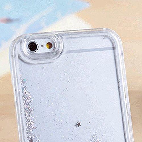 Merssavo Cubierta de Lujo de la Caja del Teléfono de la Parte Posterior del Líquido de la Estrella del Brillo para Apple iPhone 7 / 8 -Púrpura plata