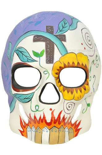 Amazoncom Day Of The Dead Halloween Venetian Impression Mask
