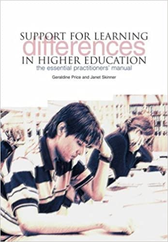 Book Support for Learning Differences in Higher Education: The Essential Practitioners' Manual by Price Geraldine Skinner Janet (2007-10-31)