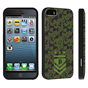 DuroCase ? Apple iPhone 5 / iPhone 5s Hard Case Black - (Army Camo Monogram D)