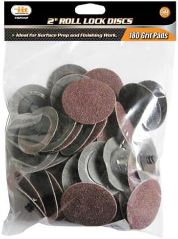 """IIT 82042 2"""" Roll Lock Sanding Discs 180 Grit (50 PC) 51ec4gRwpOL"""