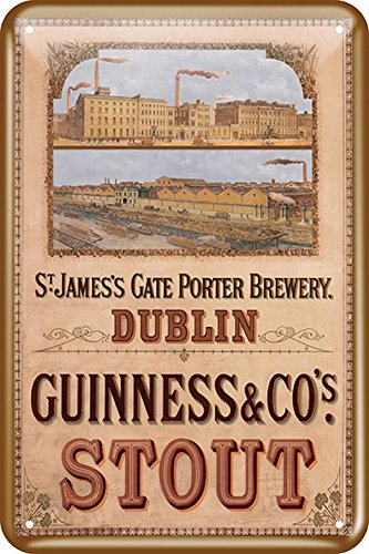 Guinness Metal Sign With St James' Gate Design (20Cm X 30Cm) ()