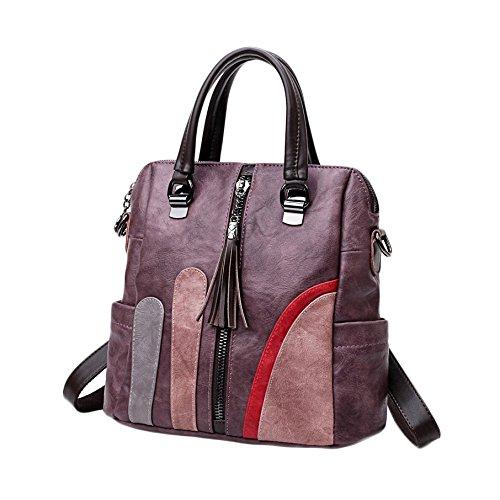 En à Multi à Main Dos 2018 Bandoulière Sac Bloqué Mode Cuir ZHXUANXUAN Dames Purple Dos Sac Couleur Nouveau à Sac Sac à P4nvHXq