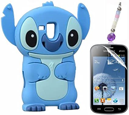 Bleu 3D Disney Stitch Étui Coque En Silicone pour Samsung Galaxy ...