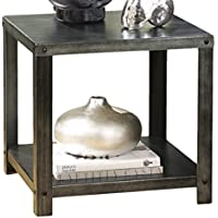 Ashley Furniture Signature Design - Hattney Contemporary End Table - Industrial Style - Square - Metal