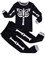 IF Pajamas Little Boys Skeleton Halloween Pajamas Sets