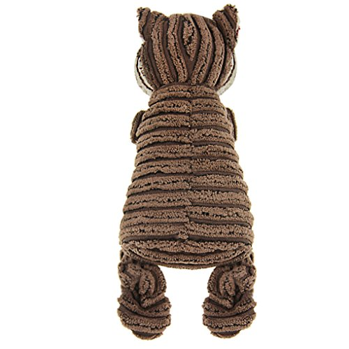 Cute Animal Shape Corduroy Durable Pet Dog Cat Stuffed Chew Toy Teeth Cleaning Training Squeaker Play Chew Rope Toys Teether for Small Medium Dogs Puppies Plush Sound Squeaky Toy Pet Plaything Puppet by Fakeface (Image #5)