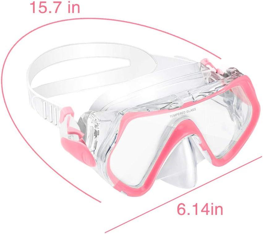 adatta per 4-10 anni cinturino in silicone regolabile impermeabile Maschera subacquea per bambini anti-perdite KOROSTRO protezione UV