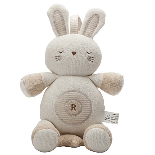 Stuff Animals Baby Toy Rabbit hang in Stroller Smoothing Musical Pull Doll Toy Best Baby Gift B-22013-2 (Organic Toy Box)