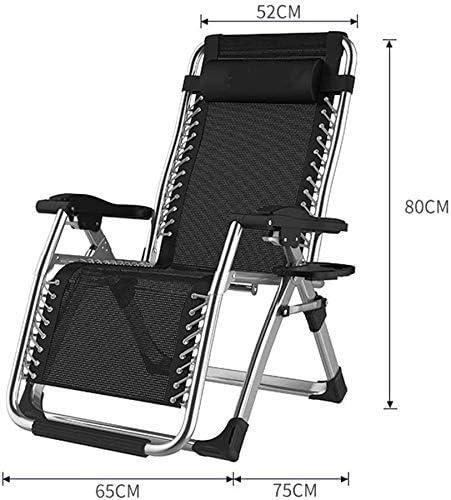 Sun Lounger Leisure Chair with Pillows Reclining Garden