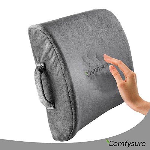 Comfysure Lumbar Support Cushion Comfort Ergonomic Memory