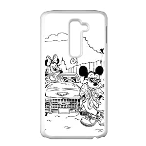 LG G2 Cell Phone Case White Mickey Mouse and Donald Duck 126 TJ2782767