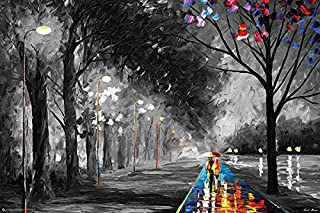 """product image for Frame USA """"Alley by The Lake by Leonid Afremov Poster (Unframed)(36x24)"""