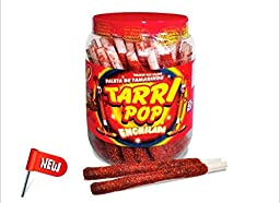 Flautirriko Tarri Pop Tamarindo Enchilado Tamarind Chili Candy Sticks 50 Pcs 540g Always Fresh